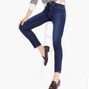 "J. Crew Dark Wash Toothpick Skinny Jeans 8"" Rise"